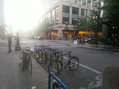 Bike Corrals in Portland Oregon -2014