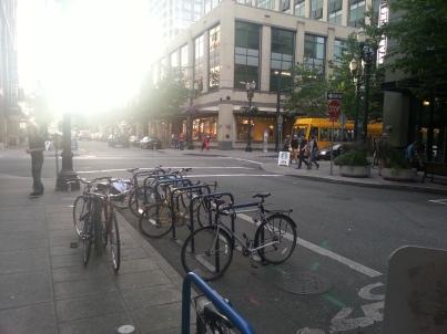 Bike Corrals in Portland Oregon -2014