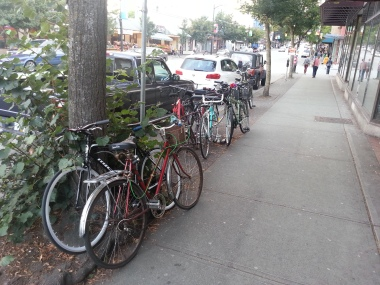 Bike Parking on Commercial Drive